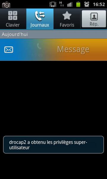 Envoyer un SMS depuis l'historique des appels d'Android en faisant glisser le doigt de droite à gauche