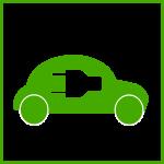 Icône symbolique d'un véhicule électrique